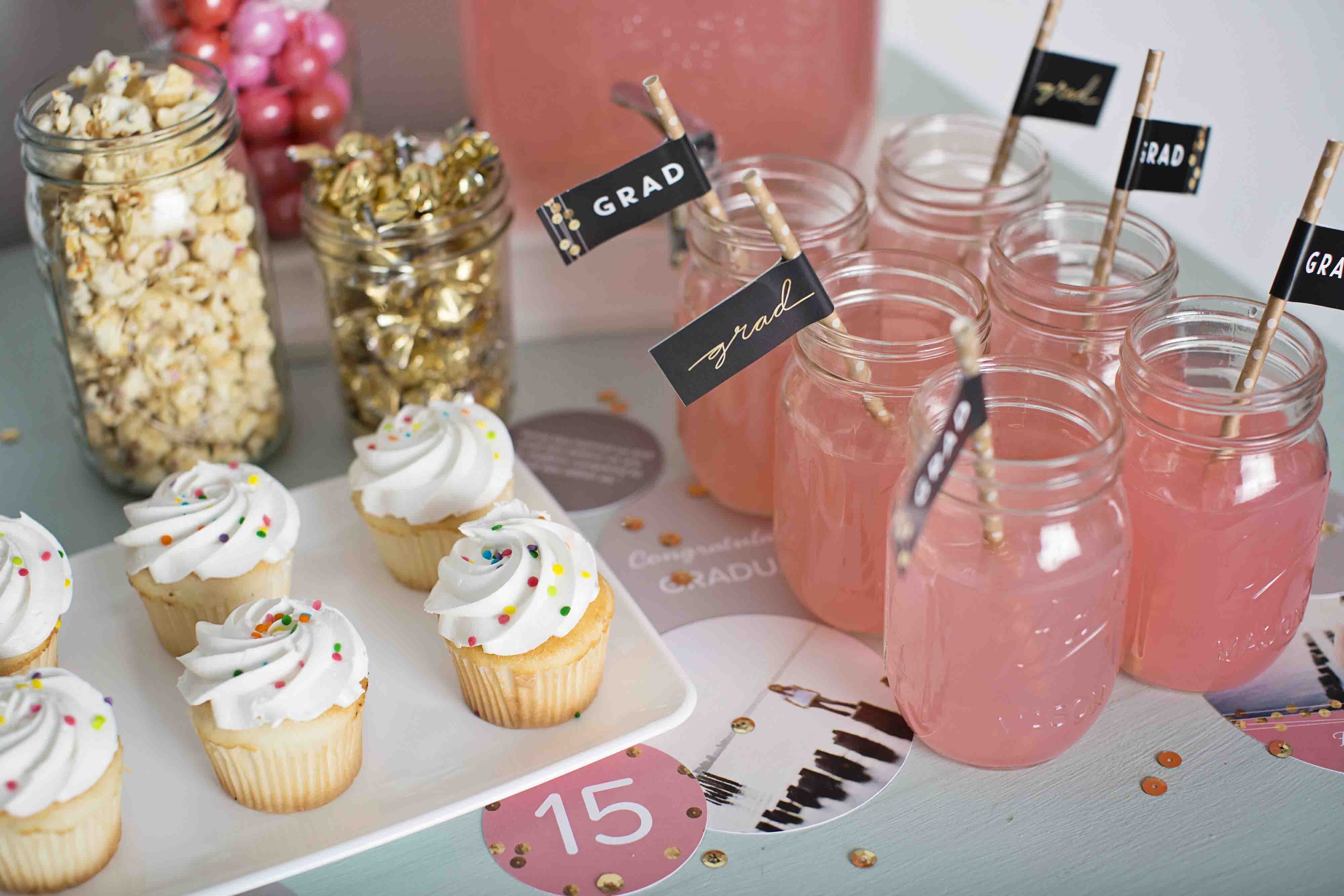 sequin-inspired graduation party ideas | pear tree blog