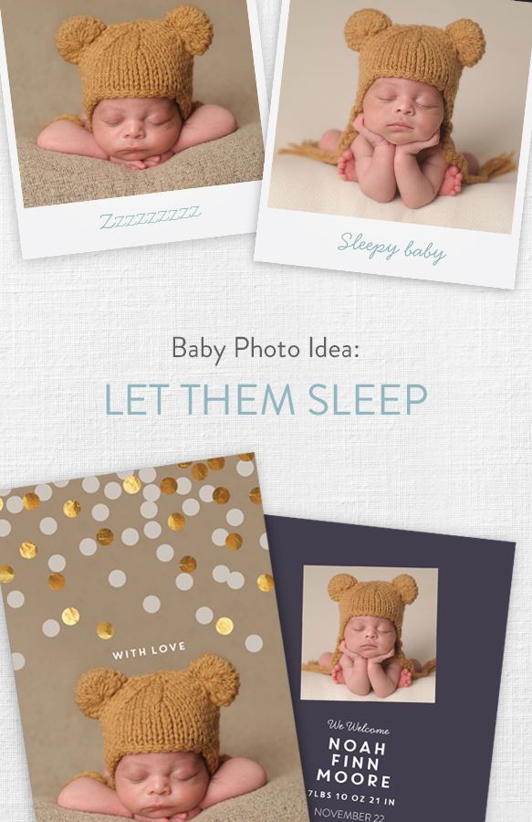 Foil Confetti Welcome Baby Boy Announcements