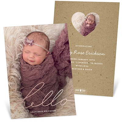 Shining Hello birth announcements