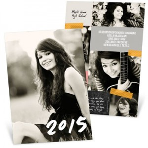 Candid Collage Graduation Announcements