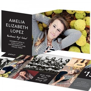 Color Block Trifold Graduation Announcements