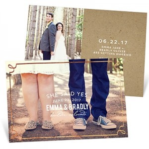 Delicate Foil Frame Save The Date Cards