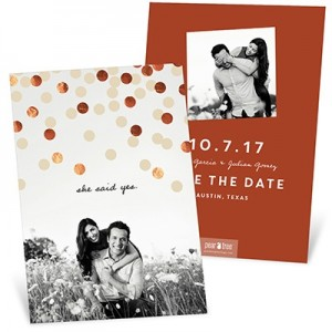 Foil Confetti Save The Date Cards