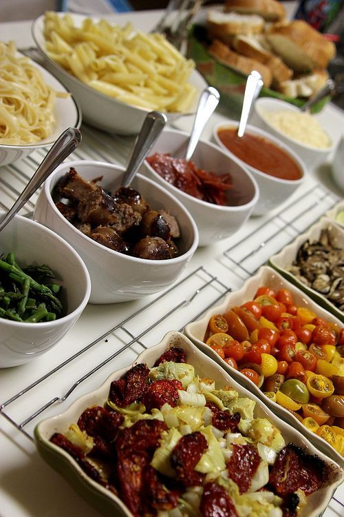 Graduation food ideas - pasta bar