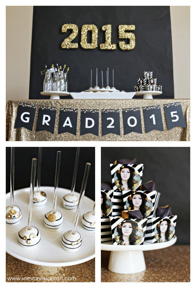 Graduation party ideas: golden touches
