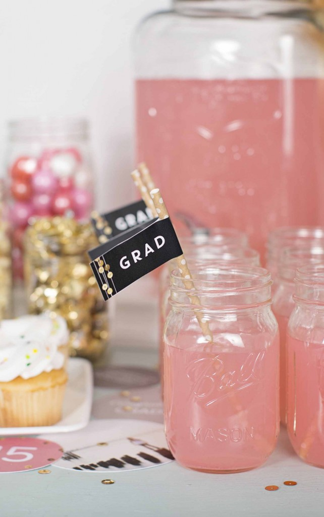 Graduation party ideas: accessorize your drinks