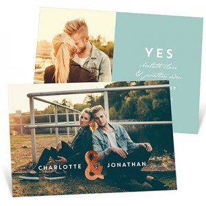Me You Foil Save the Date Cards