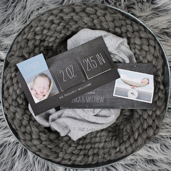 Pop Up Name Baby Boy Announcements