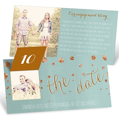 Save the Date Ideas - FauxGlitter Confetti Pop Up Save the Date Cards