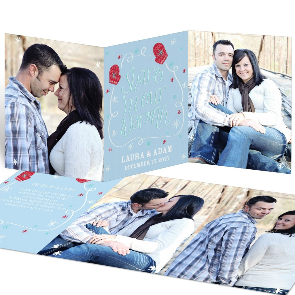 Save the Date Ideas - Warm Winter Wedding Save the Date Cards