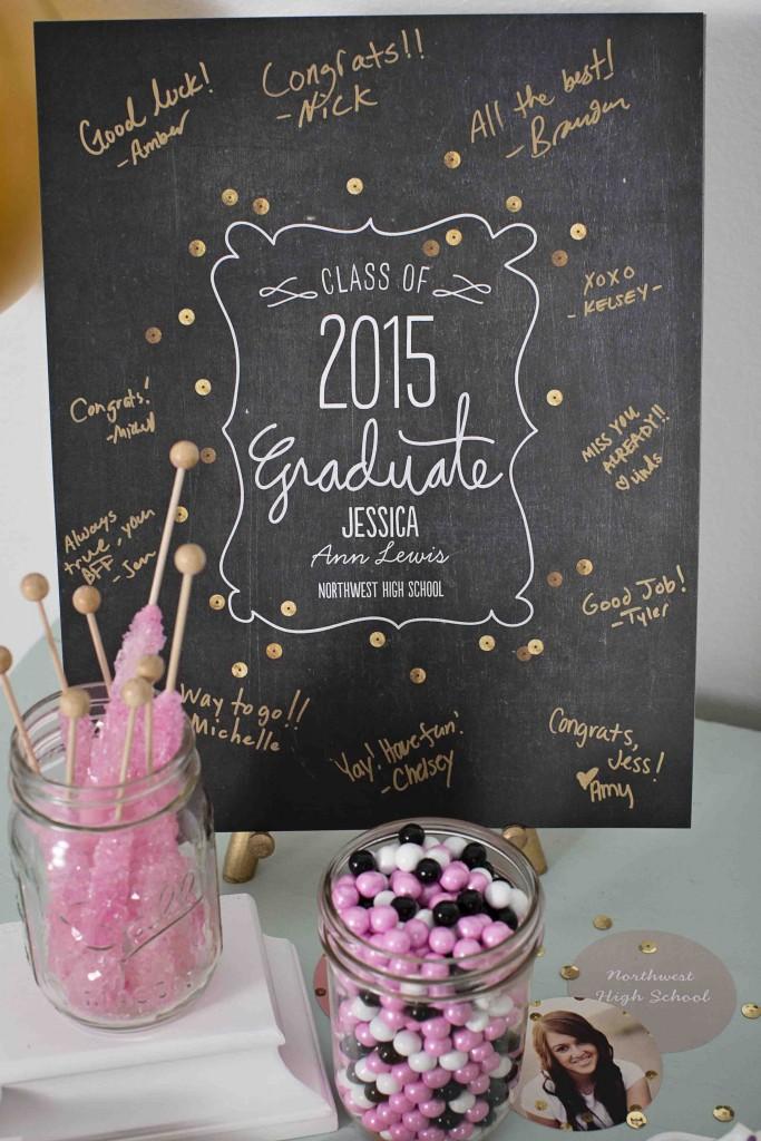 Graduation party ideas: guest book print