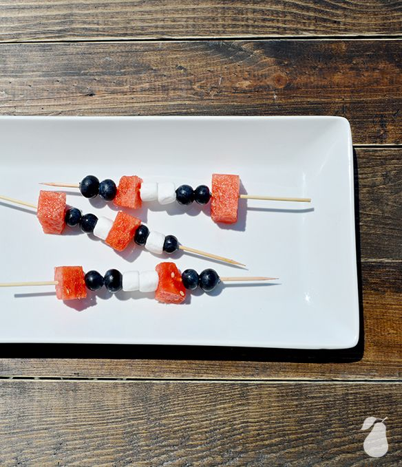 4th of July food ideas fruit skewers