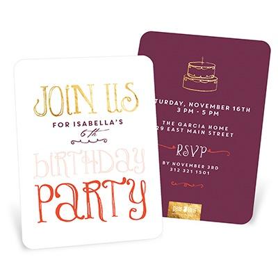 Charming Party Kids Birthday Invitations