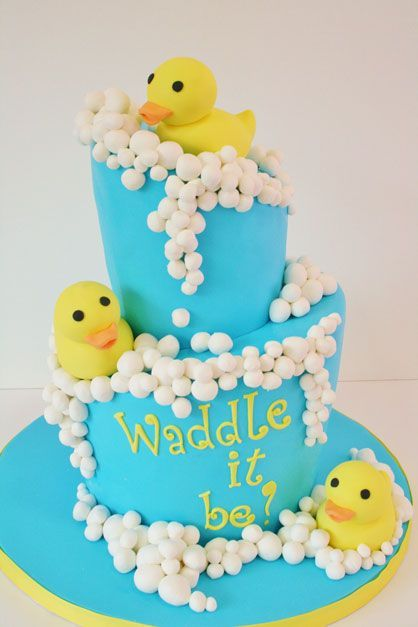 Rubber duck baby shower ideas cake