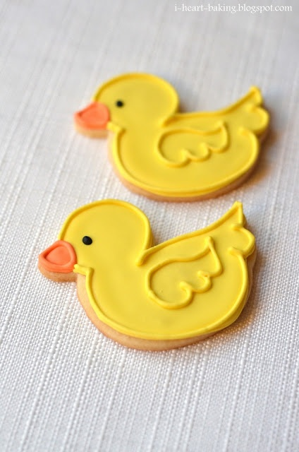 Rubber duck baby shower ideas cookies