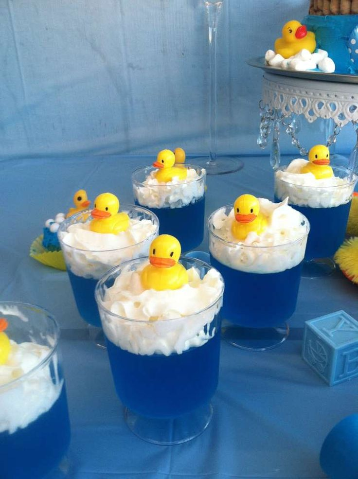 click to see our rubber duck baby shower ideas these jello cups are