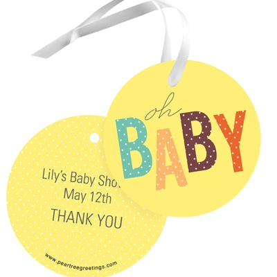 Rubber duck baby shower ideas gift tag