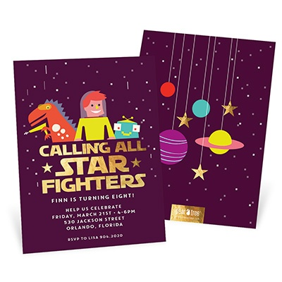 Star Fighters Kids Birthday Invitations