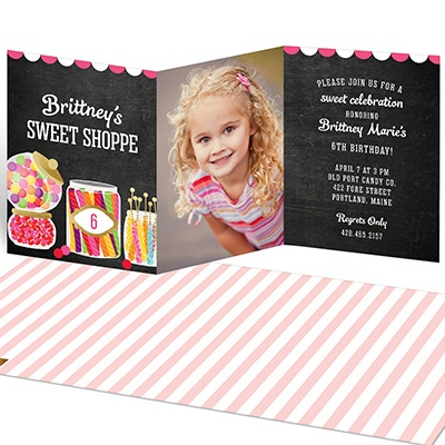 Sweet Shoppe Kids Birthday Invitations