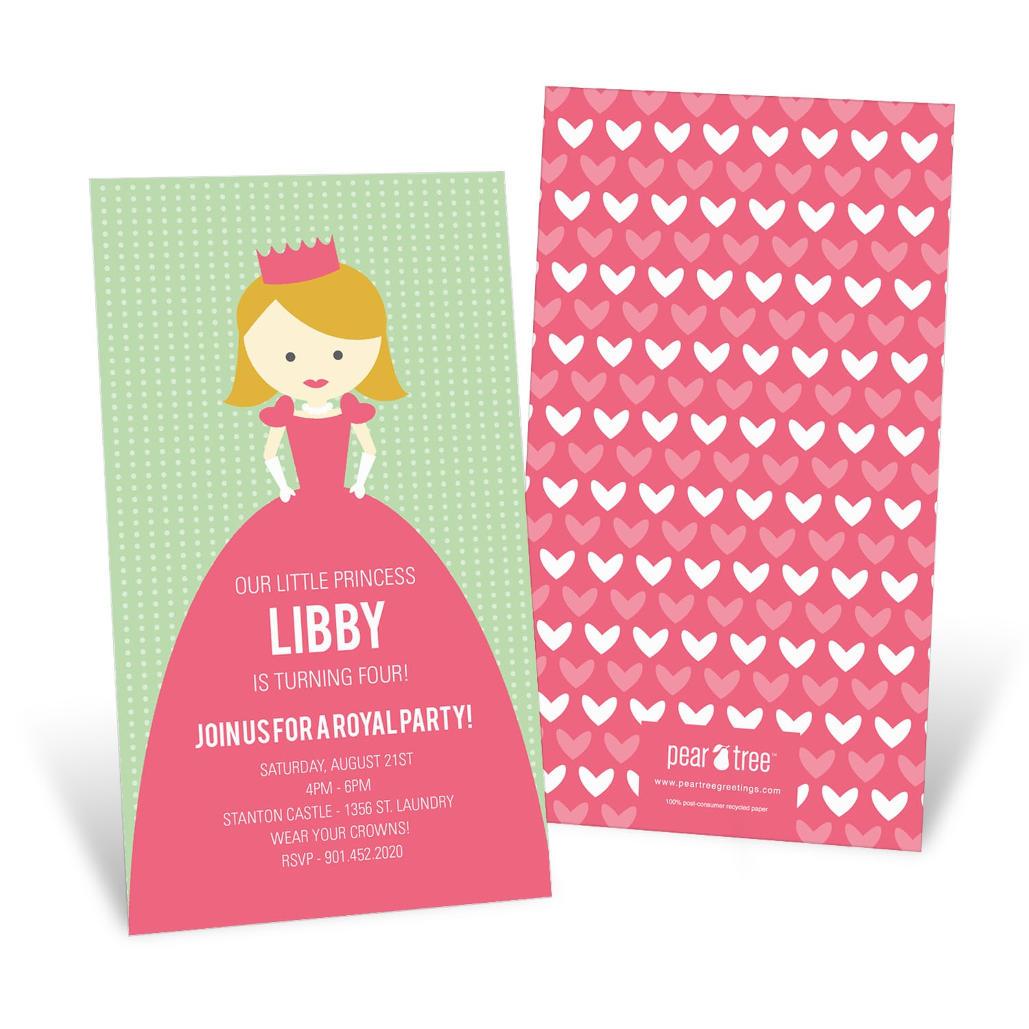 A Princess Like Me Kids Birthday Invitations