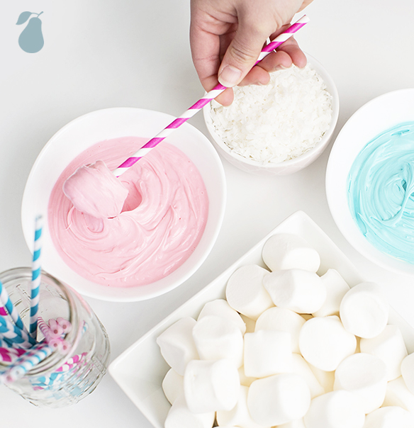 Gender reveal party ideas_dips