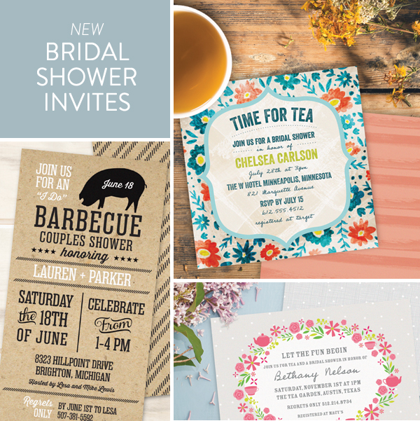New bridal shower invitations