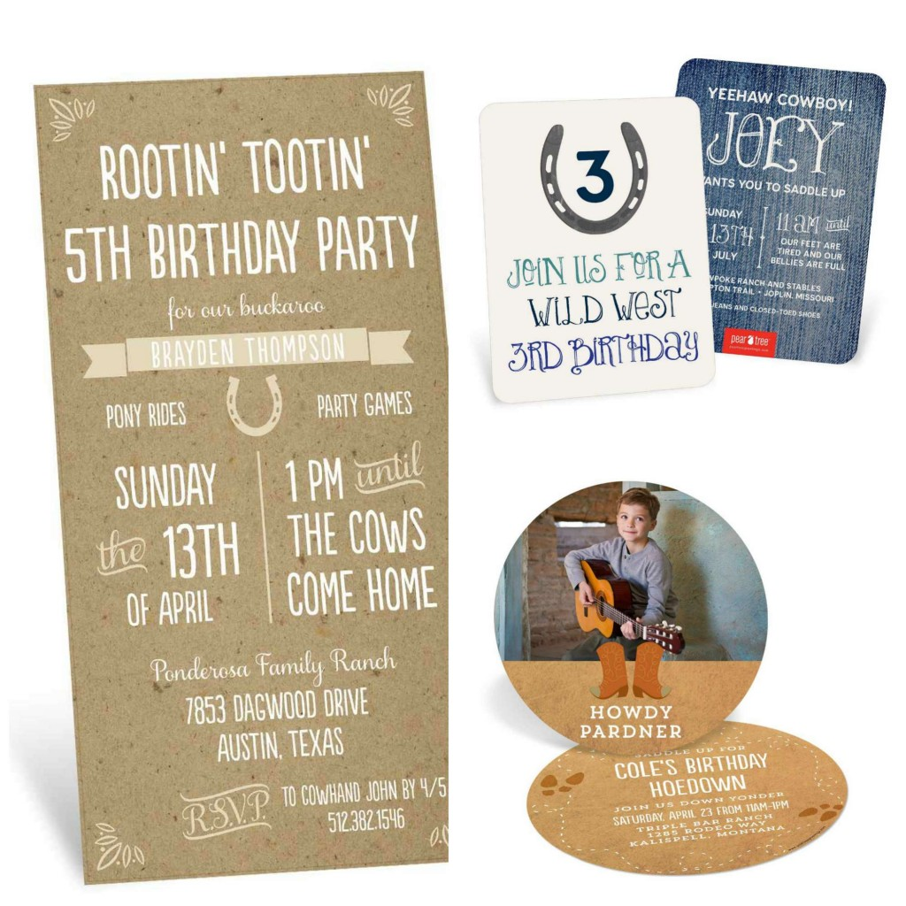 Go West Cowboy Party Ideas – Wild West Party Invites
