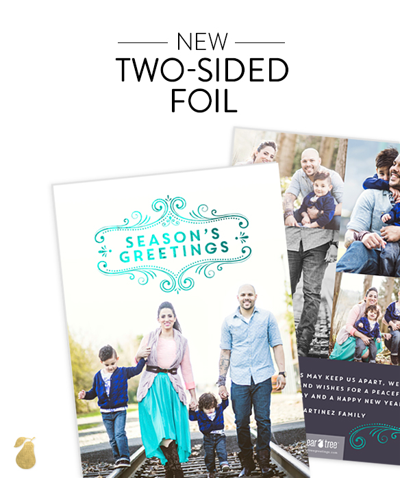 Two Sided Foil Premium Christmas Cards