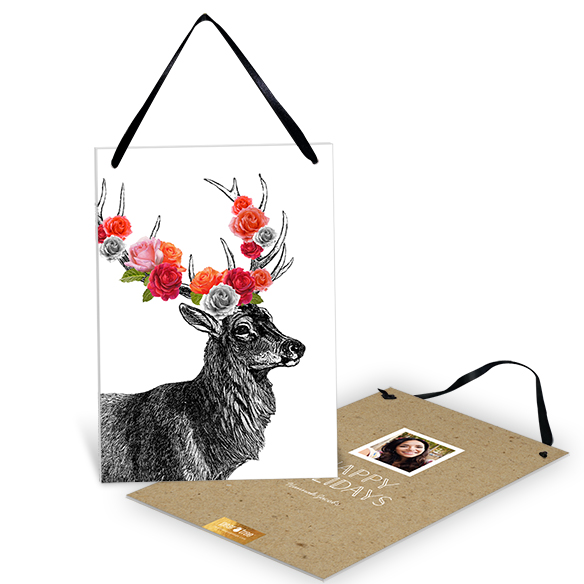 Decked Out Reindeer Premium Christmas Cards