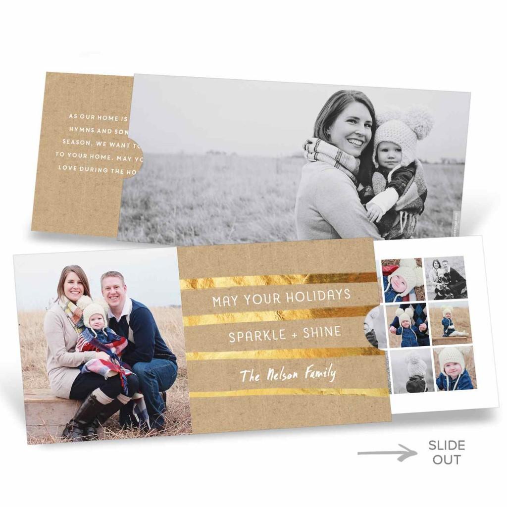 Golden Greeting Slider Premium Christmas Cards