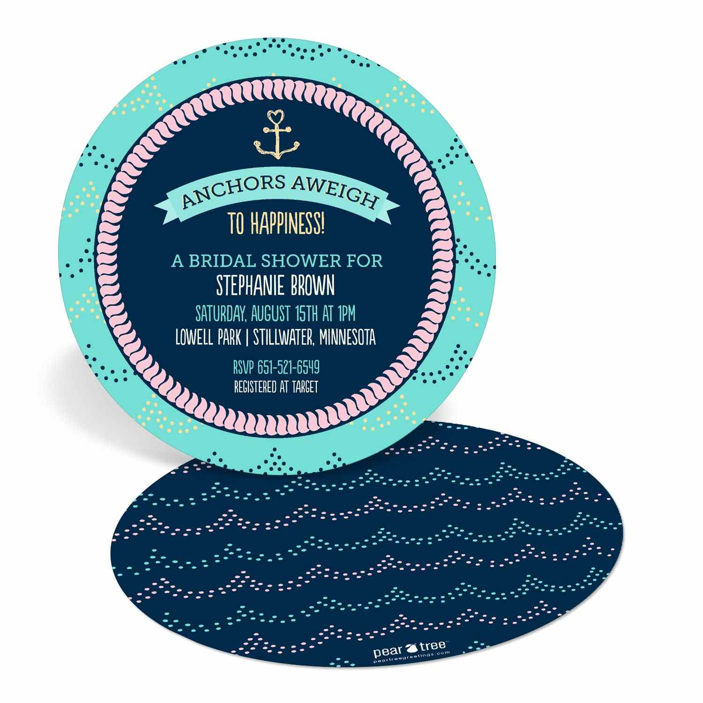 Nautical Bridal Shower Invitations – gangcraft