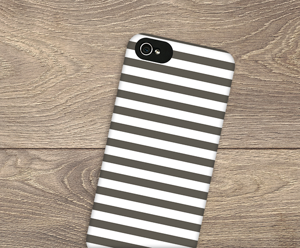 This phone case has a fun stipe pattern that you can make your own by simply changing the color.