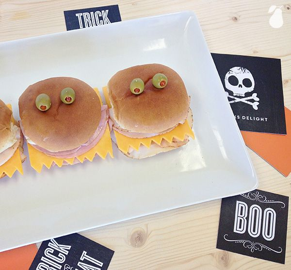 Monster Sandwiches are a fun Halloween food idea for your party. See more party foods!