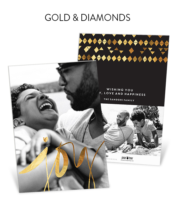 Gold Diamonds Premium Christmas Cards | Genevieve Gorder for Pear Tree