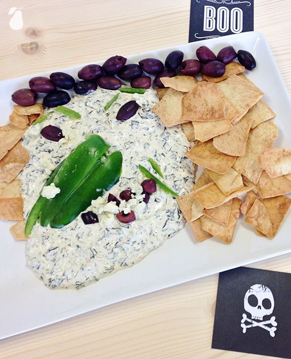Witch Dip adds a spooky twist to the traditional spinach dip. See more spooky foods!