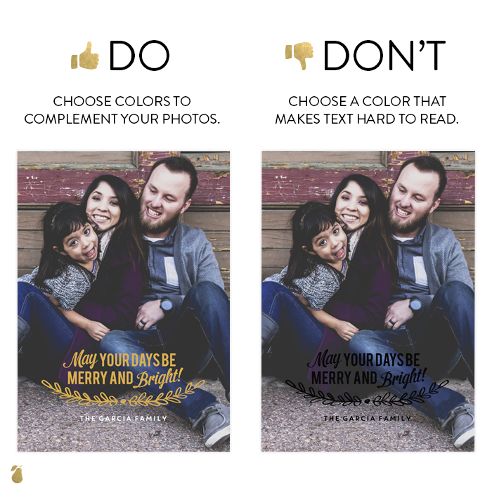 Dos and Don'ts of Christmas Cards #1
