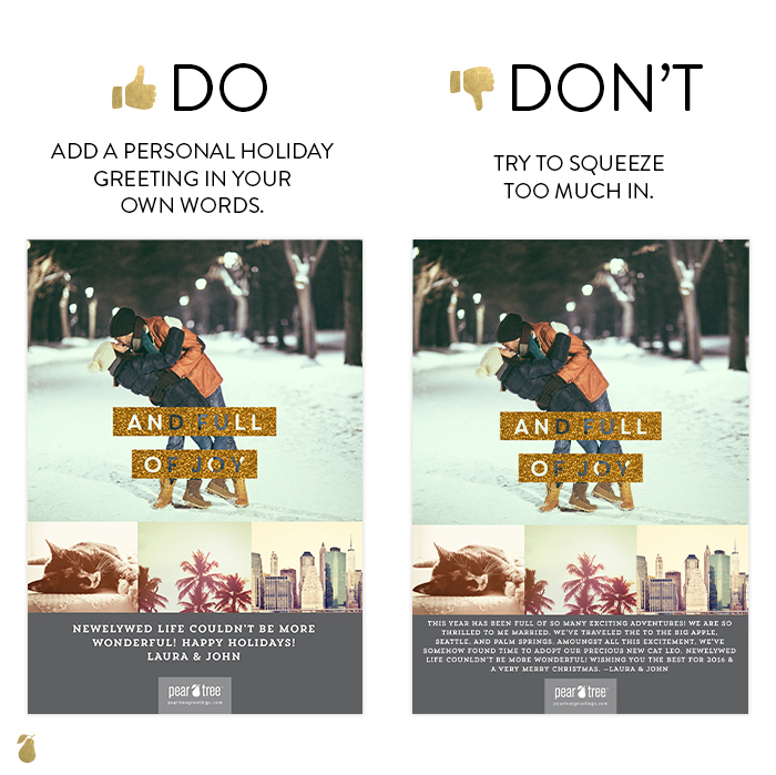 Dos and Don'ts of Christmas Cards #4