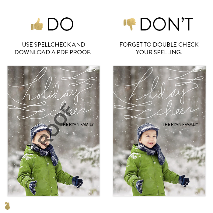 Dos and Don'ts of Christmas Cards