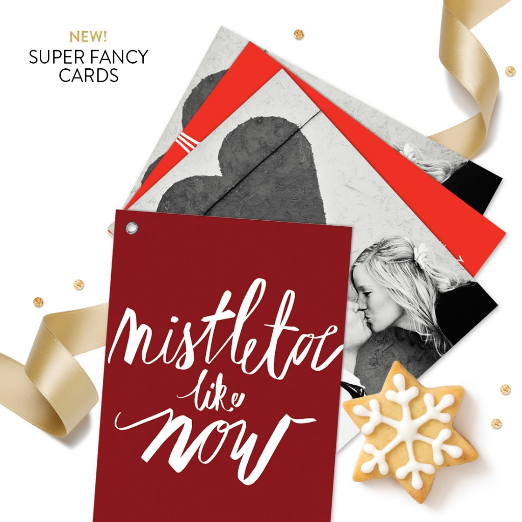 Holiday Kisses Swatch Book Premium Christmas Cards