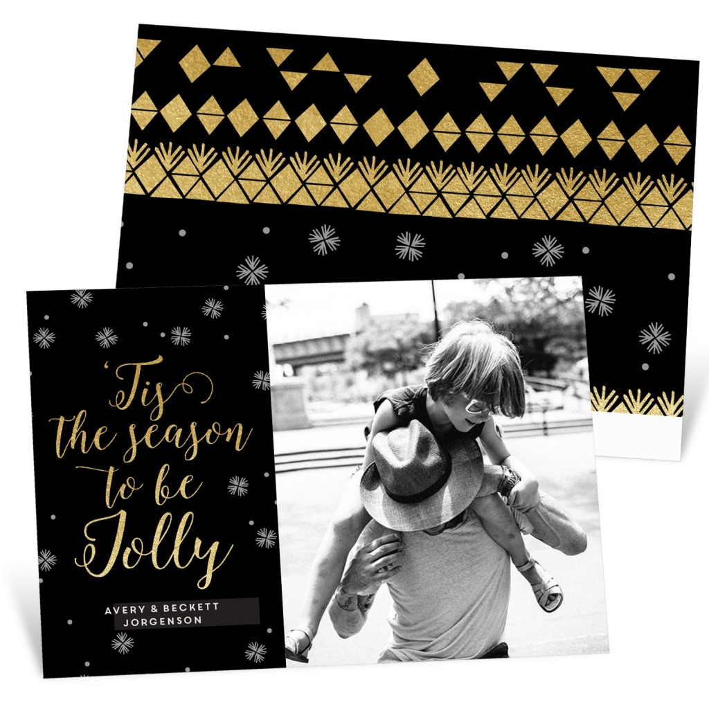 Jolly Faux Foil Genevieve Gorder Holiday Photo Card