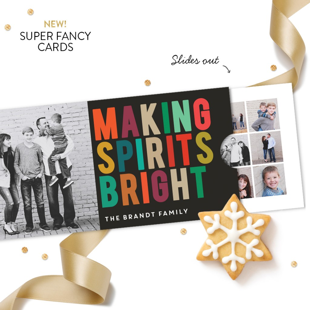 Multicolor Greeting Slider Premium Christmas Card