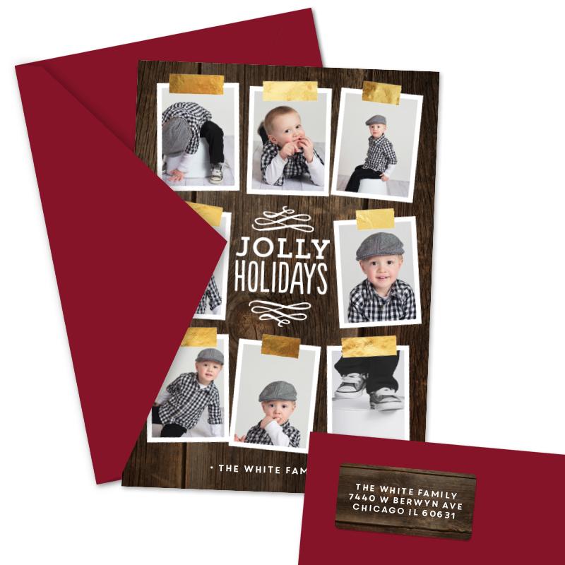 Shining Foil Tape Christmas Cards