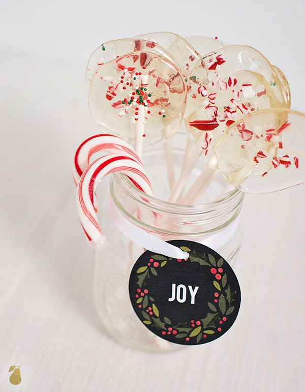 Holiday Food Ideas - Homemade Holiday Lollipops