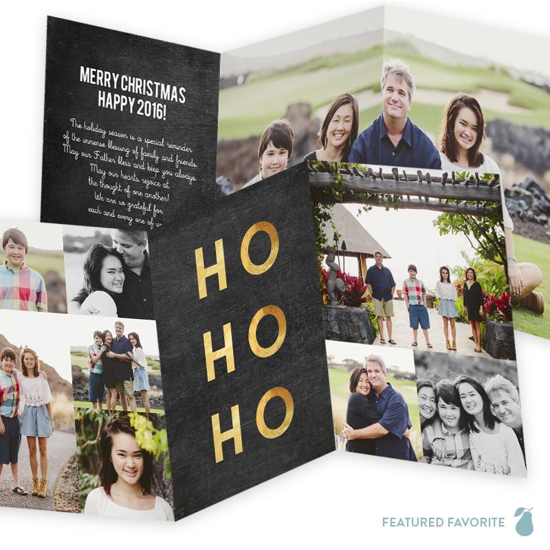 Ho Ho Ho Trifold - Christmas Cards