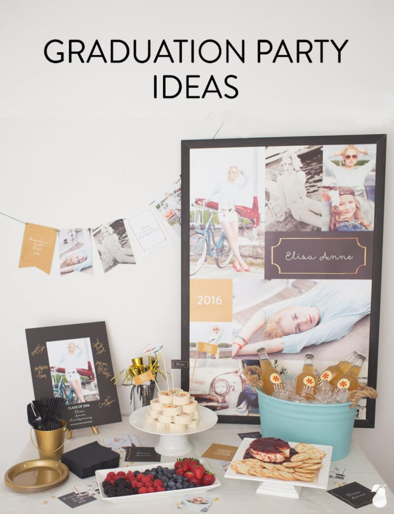 Graduation Party Ideas: Framed in Gold