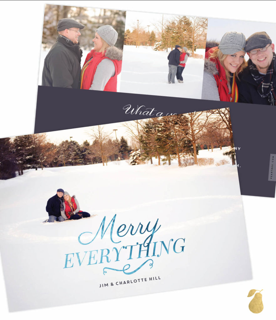Merry Everything Foil -- Christmas Cards