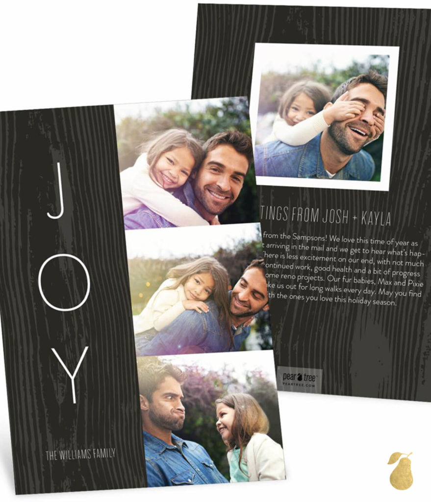 Joy Woodgrain -- Christmas Cards