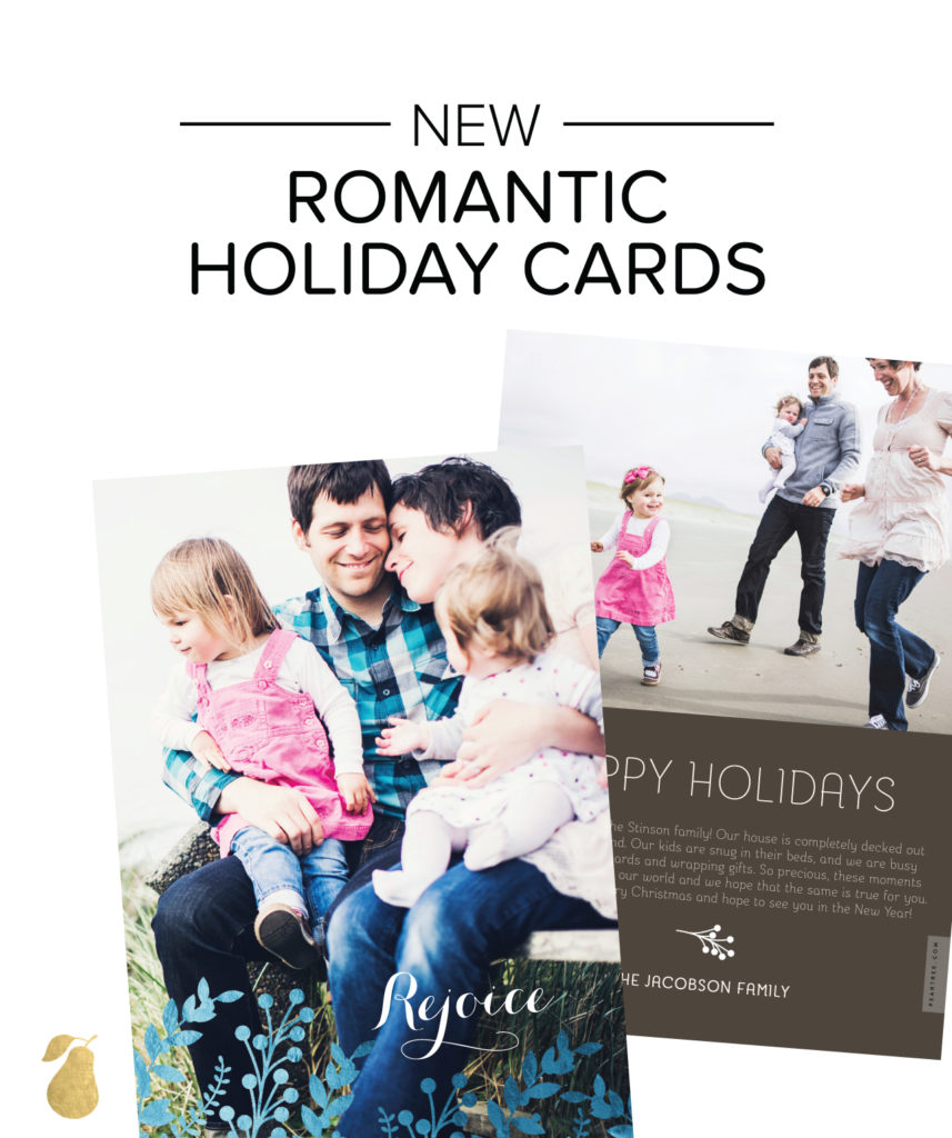 Romantic Holiday Cards - Field of Foil