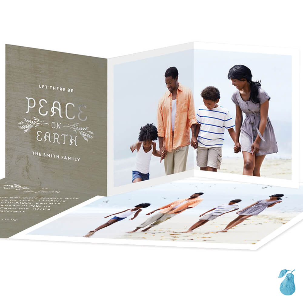 Foil Peace Trifold -- Christmas Cards