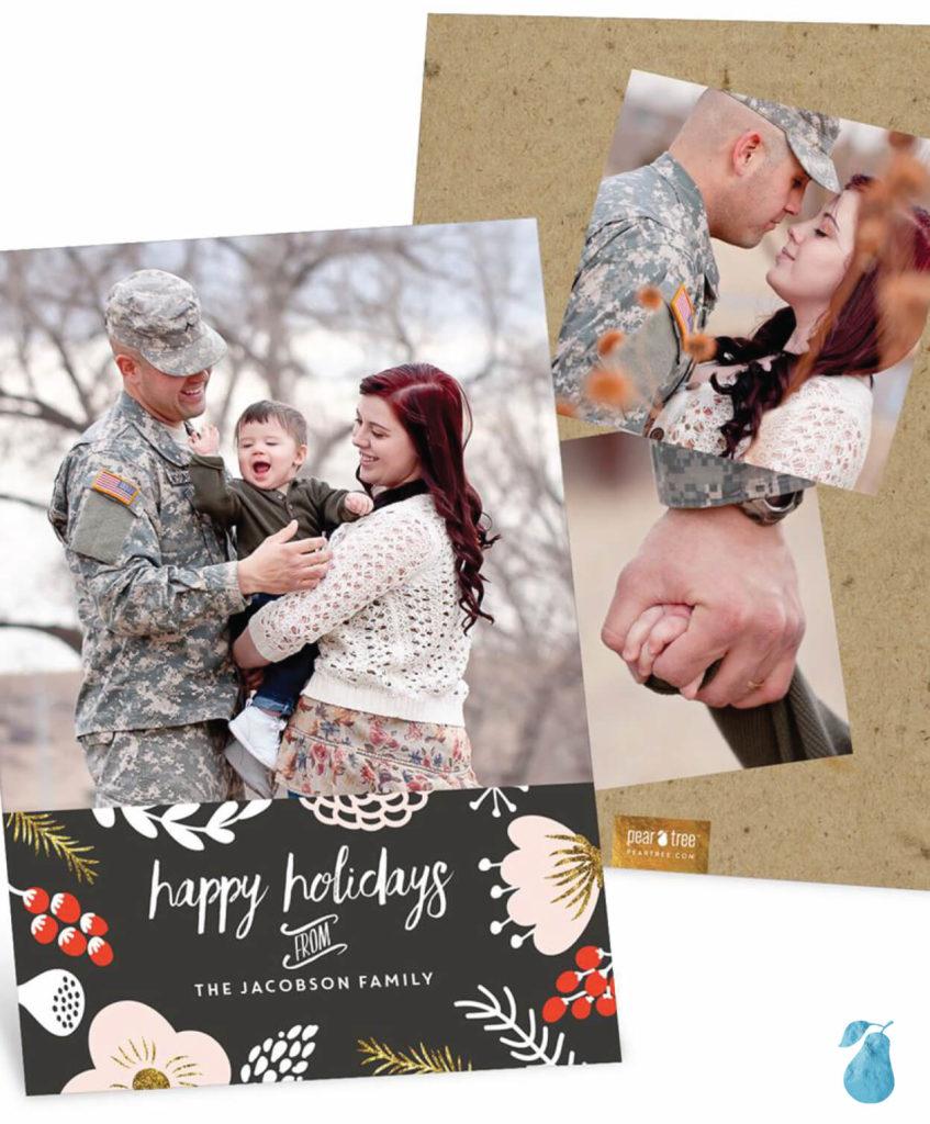 Blushing Blooms -- Christmas Cards